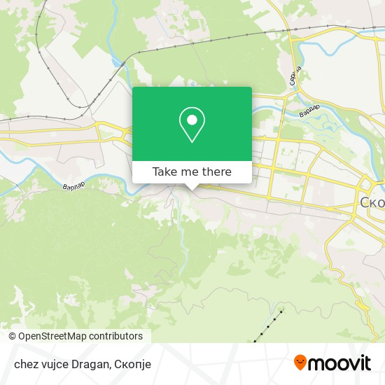 chez vujce Dragan map