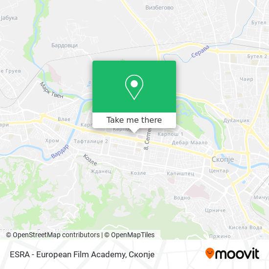ESRA - European Film Academy map