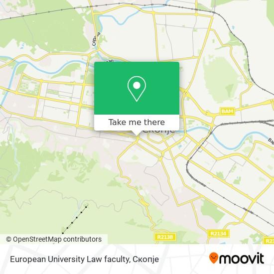 European University Law faculty map