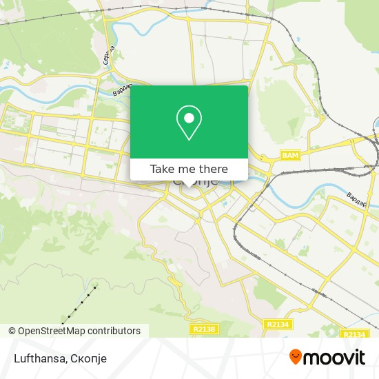 Lufthansa map