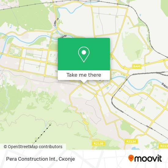 Pera Construction Int. map