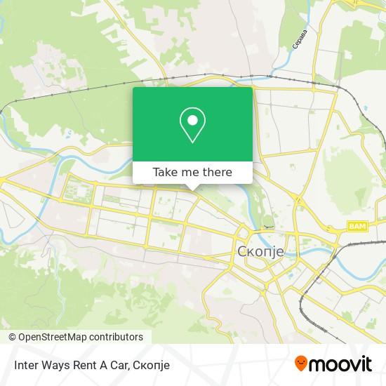 Inter Ways Rent A Car map