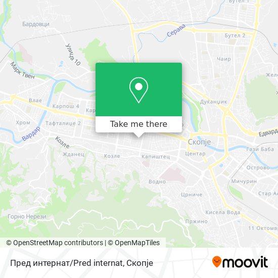 Пред интернат/Pred internat map