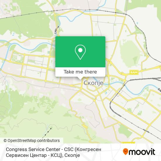 Congress Service Center - CSC (Конгресен Сервисен Центар - КСЦ) map