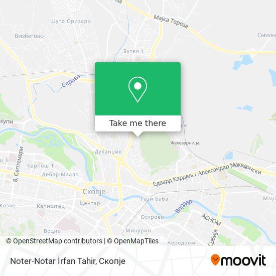 Noter-Notar İrfan Tahir map