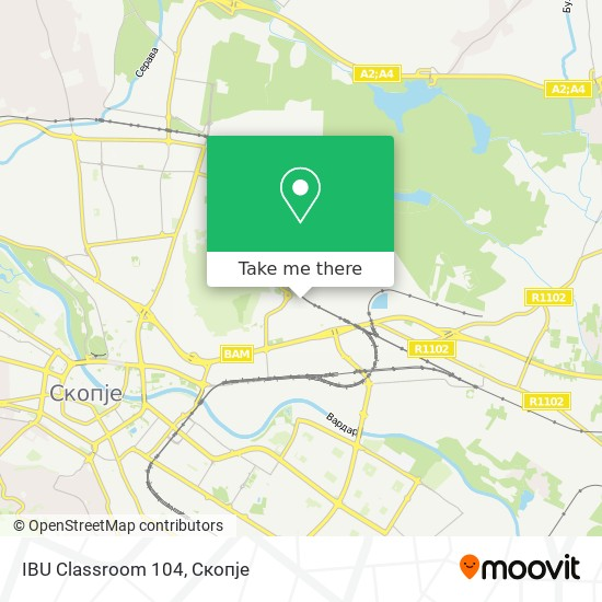 IBU Classroom 104 map
