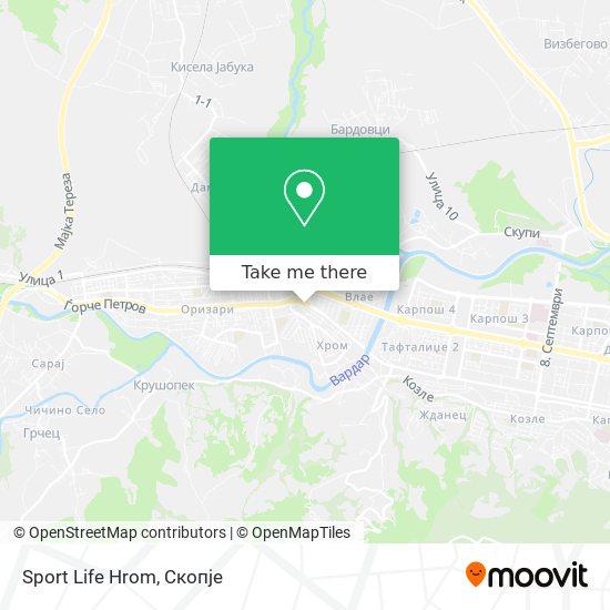 Sport Life Hrom map