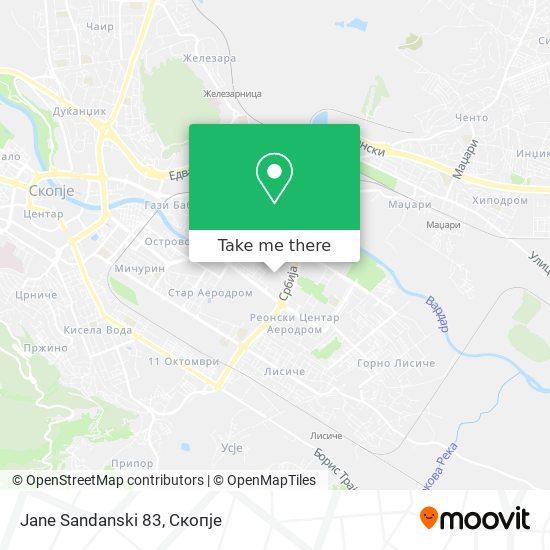 Jane Sandanski 83 map