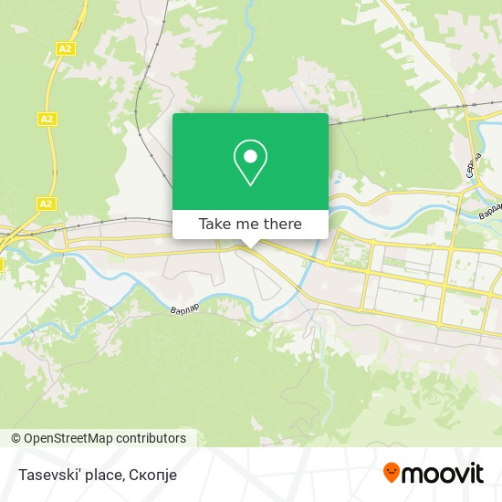 Tasevski' place map