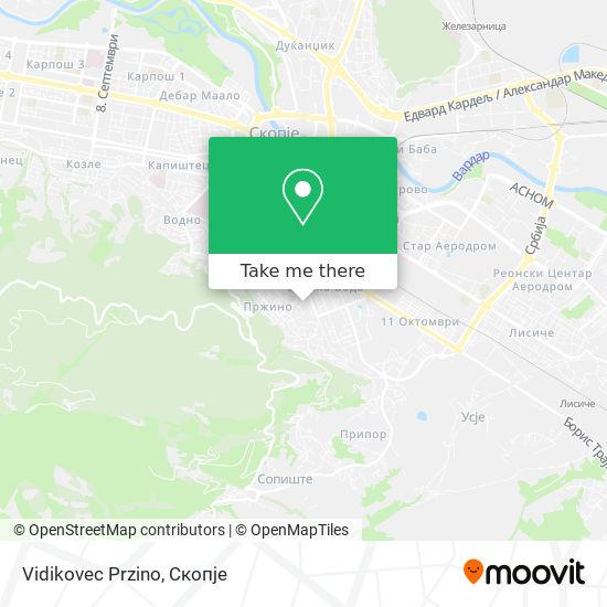 Vidikovec Przino map