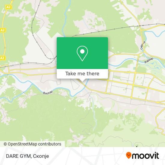 DARE GYM map