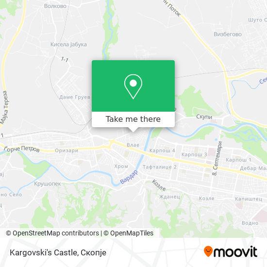 Kargovski's Castle map