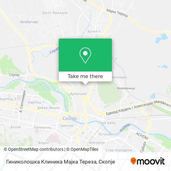 Гиниколошка Клиника Мајка Тереза map