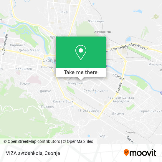 VIZA avtoshkola map