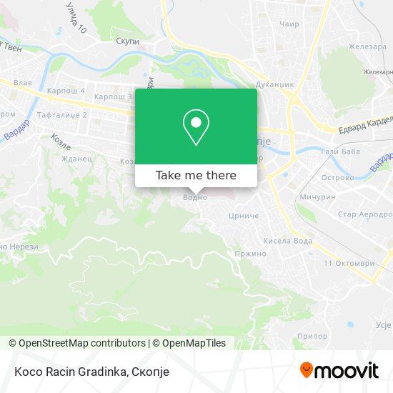 Koco Racin Gradinka map