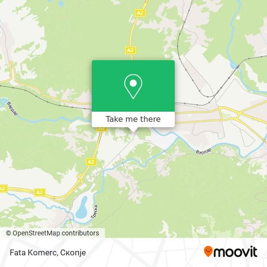 Fata Komerc map