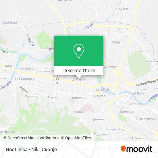 Gostilnica - Niki map