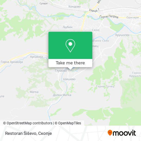 Restoran Šiševo map