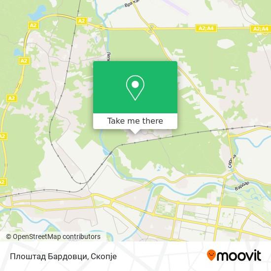 Плoштaд Бaрдoвци map