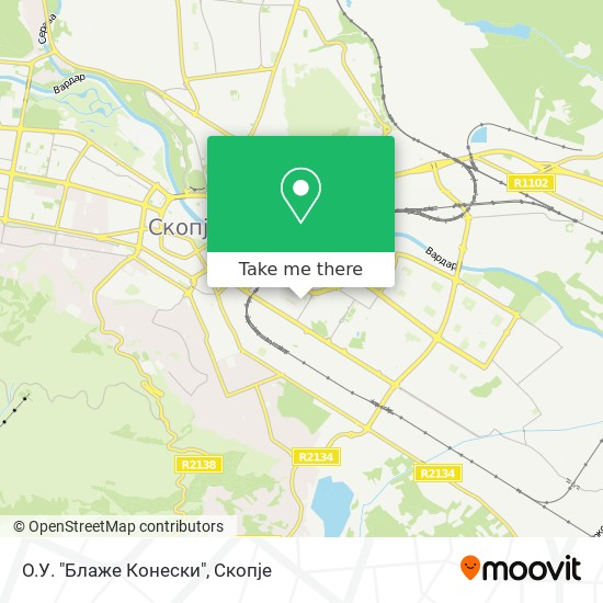"O.У. ""Блaже Кoнески"" map"