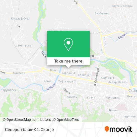 Северен блок-К4 map