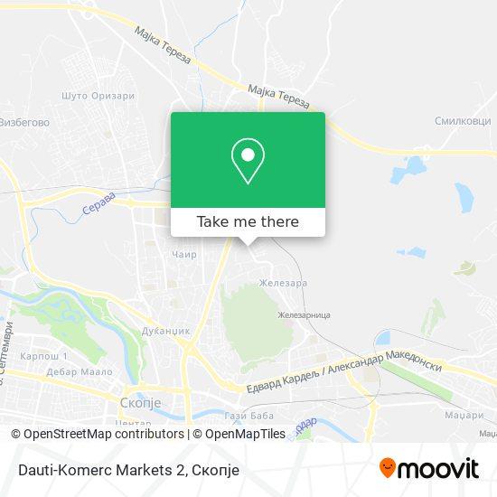 Dauti-Komerc Markets 2 map