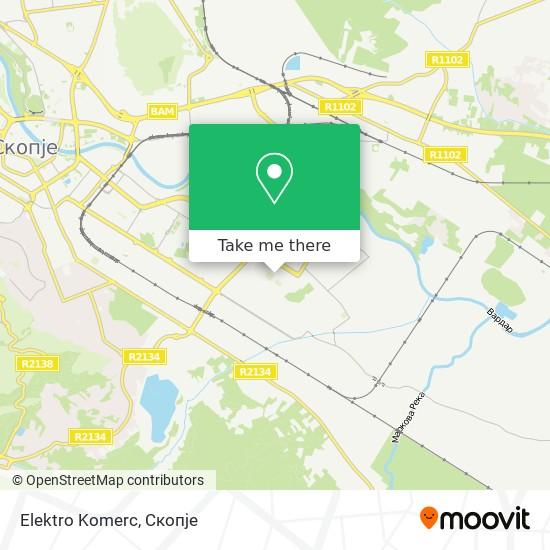 Elektro Komerc map