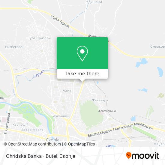 Ohridska Banka - Butel map