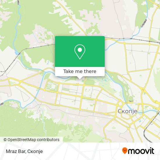 Mraz Bar map