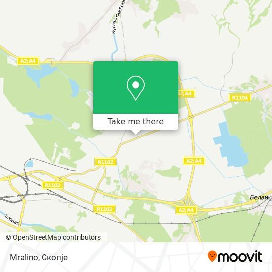 Mralino map