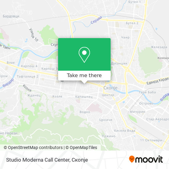 Studio Moderna Call Center map