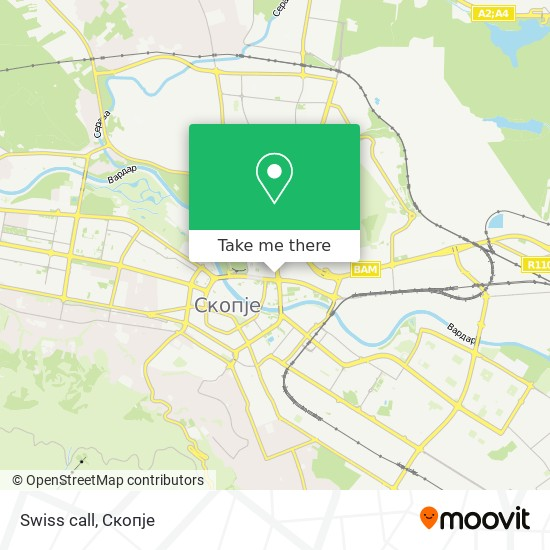 Swiss call map