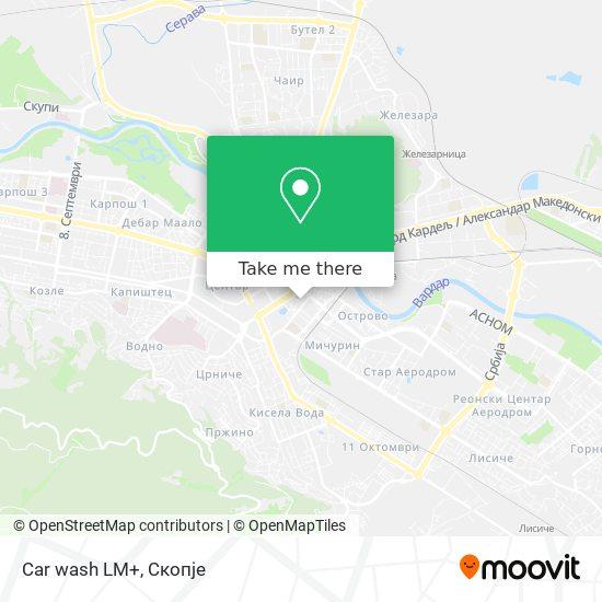 Car wash LM+ map
