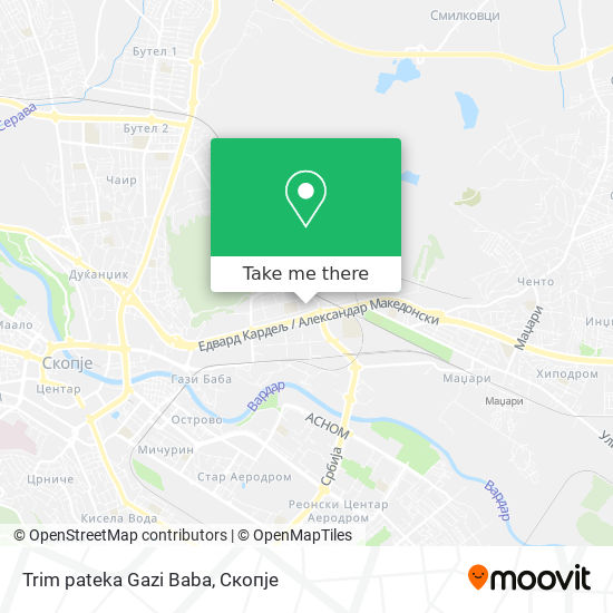 Trim pateka Gazi Baba map