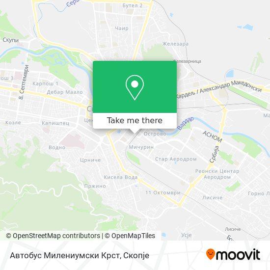 Автобус Милениумски Крст map