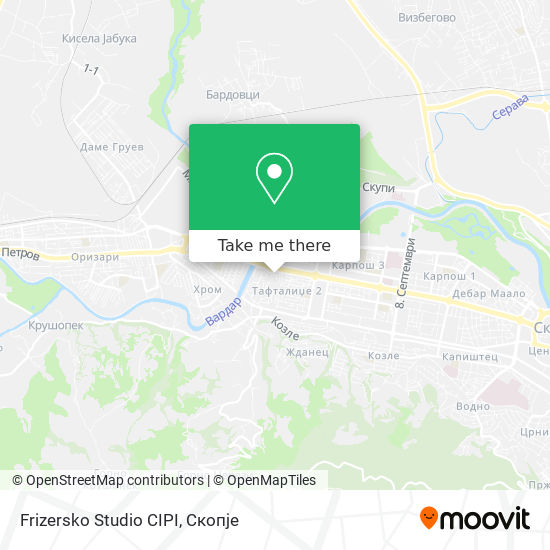 Frizersko Studio CIPI map