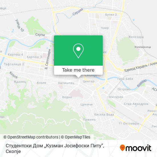 """Студентски Дом """"Кузман Јосифоски Питу"""" map"""