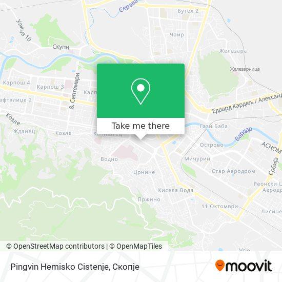 Pingvin Hemisko Cistenje map