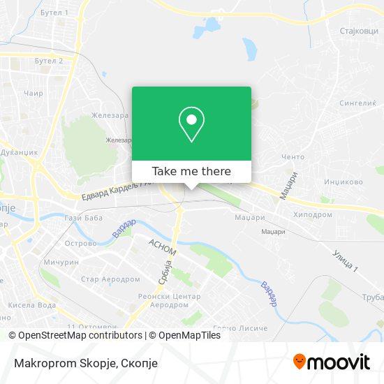 Makroprom Skopje map