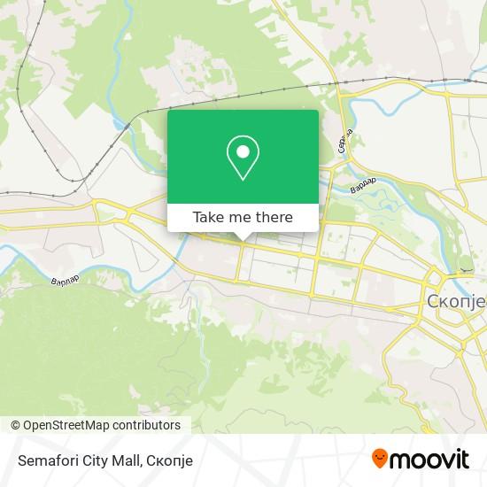 Semafori City Mall map