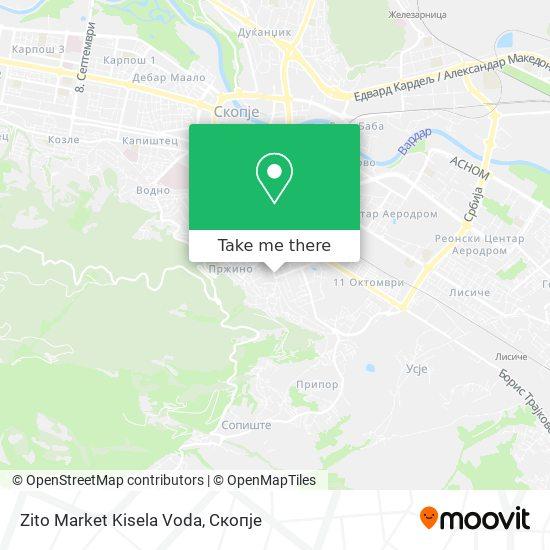 Zito Market Kisela Voda map