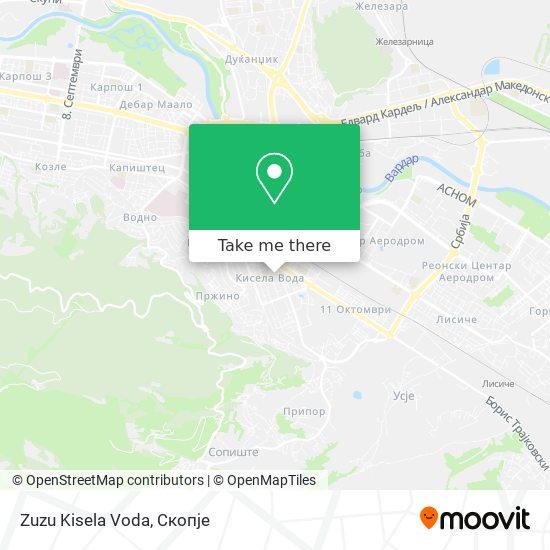Zuzu Kisela Voda map
