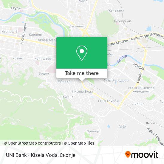 UNI Bank -  Kisela Voda map