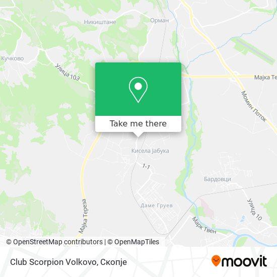 Club Scorpion Volkovo map