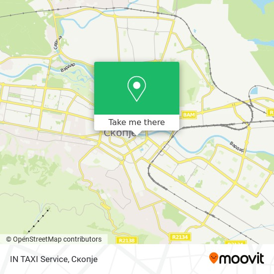 IN TAXI Service map