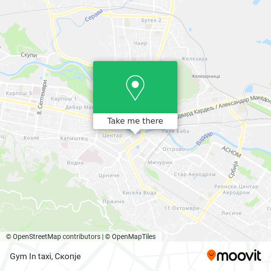 Gym In taxi map