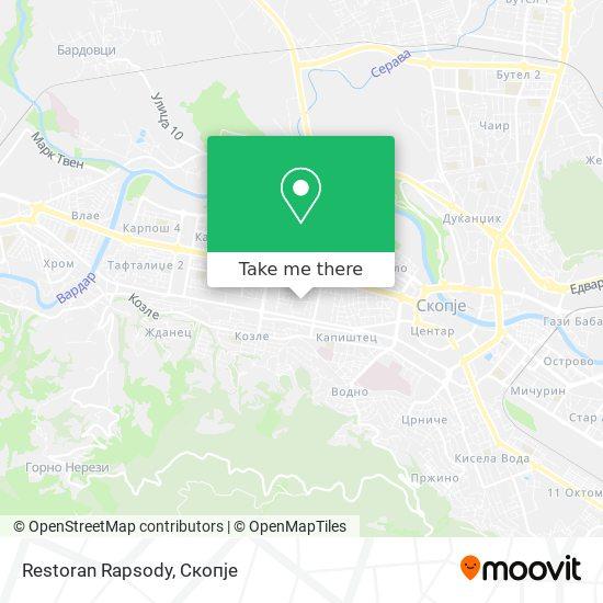 Restoran Rapsody map