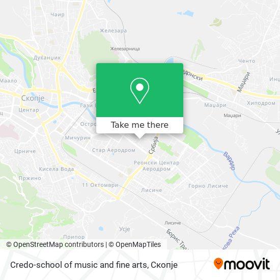 Credo-school of music and fine arts map