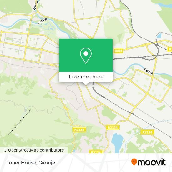Toner House map