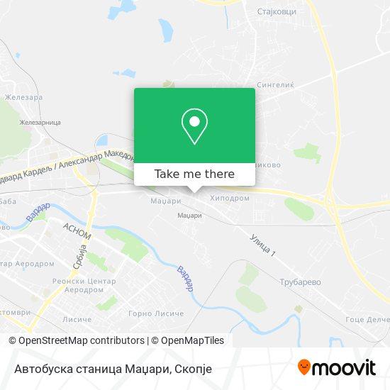 Автобуска станица Маџари map